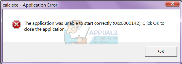 the application was unable to start correctly 0xc0000142-0