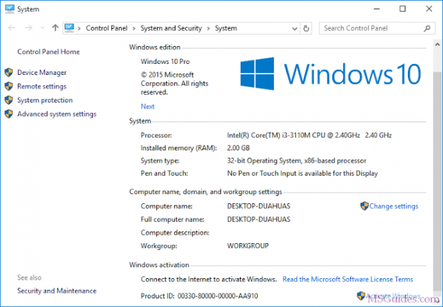 active win 10 home-0